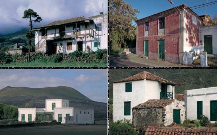 Diversas viviendas de alto y bajo de medianos agricultores y hacendados de izquierda a derecha - Las casas canarias lanzarote ...
